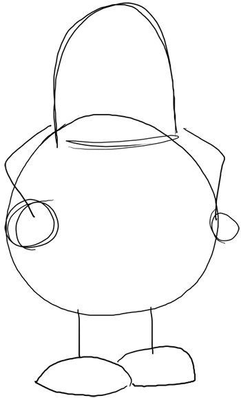 how to draw peter griffin face