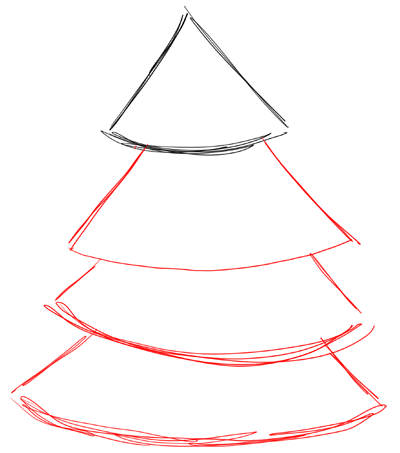 Step 2 How to Draw Christmas Trees Step by Step Drawing Lesson