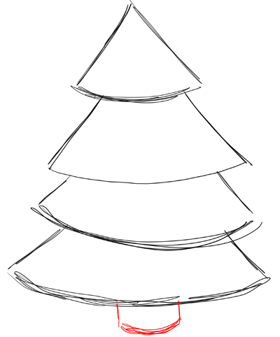 Step 3 how to draw christmas trees step by step drawing lesson