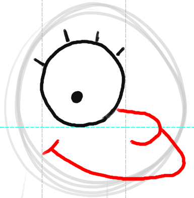 Step 3 How to Draw Lisa Simpson from The Simpsons : Step by Step Drawing Lesson