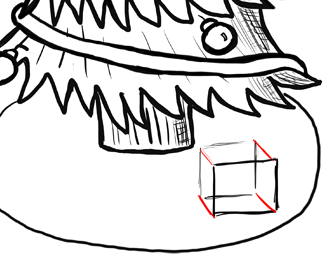 how to draw a present step by step