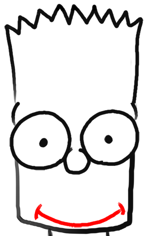 Step 5 How to Draw Bart Simpson from The Simpsons : Step by Step Drawing Lesson