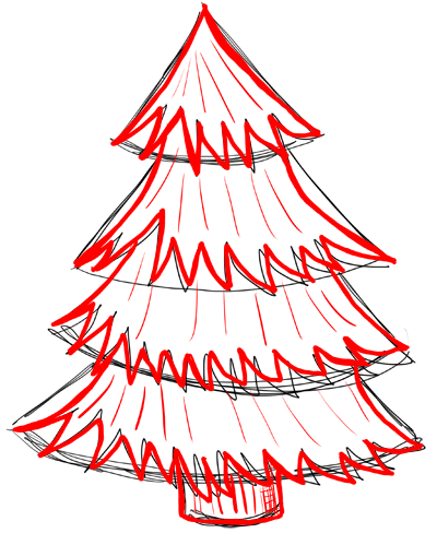 Step 5 How To Draw Christmas Trees By Drawing Lesson