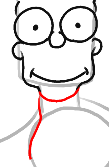 Step 8 How to Draw Bart Simpson from The Simpsons : Step by Step Drawing Lesson
