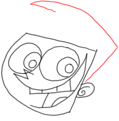 Step 8 How to Draw Timmy Turner from Fairly Odd Parents : Step by Step Drawing Lesson