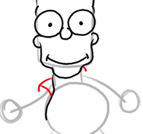 Step 9 How to Draw Bart Simpson from The Simpsons : Step by Step Drawing Lesson