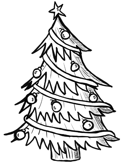 How to Draw Christmas Trees Step by Step Drawing Lesson - Page 2 ...