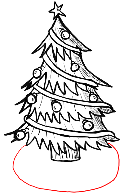 How to Draw Christmas Trees Step by Step Drawing Lesson ...