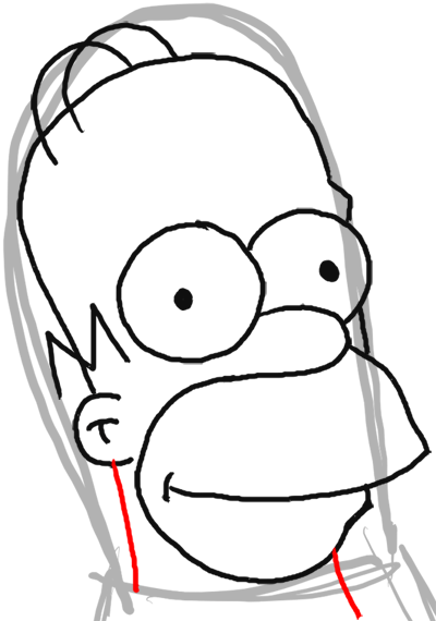 how to draw homer simpson from the simpsons   step by step