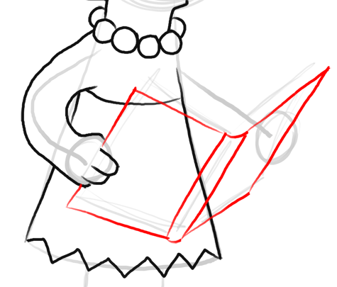 Step 10 How to Draw Lisa Simpson from The Simpsons : Step by Step Drawing Lesson