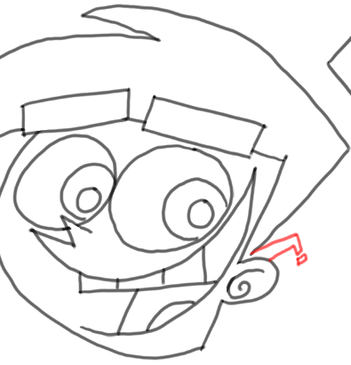Step 12 How to Draw Timmy Turner from Fairly Odd Parents : Step by Step Drawing Lesson