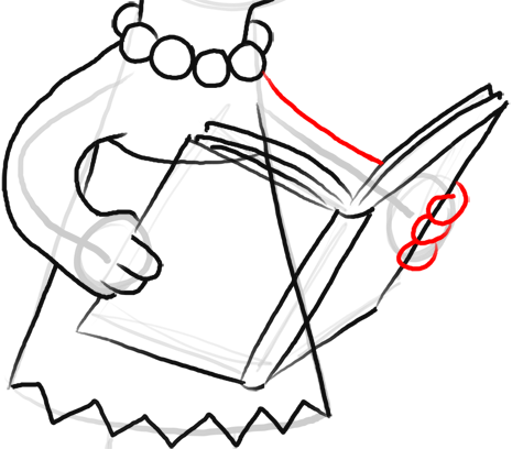 Step 12 How to Draw Lisa Simpson from The Simpsons : Step by Step Drawing Lesson