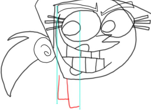 Step 12 How to Draw Vicky from Fairly Odd Parents : Step by Step Drawing Tutorial