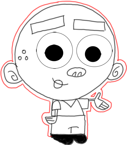 Step 13 How to Draw AJ from Fairly Odd Parents : Step by Step Drawing Lesson