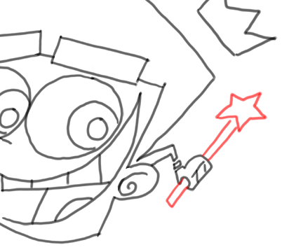 Step 14 How to Draw Timmy Turner from Fairly Odd Parents : Step by Step Drawing Lesson