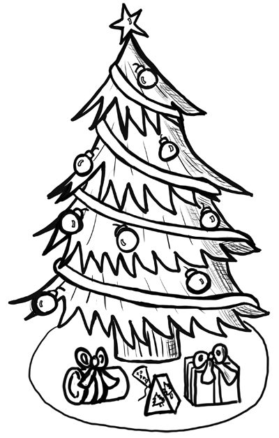 How to Draw Christmas Trees Step by Step Drawing Lesson - How to ...