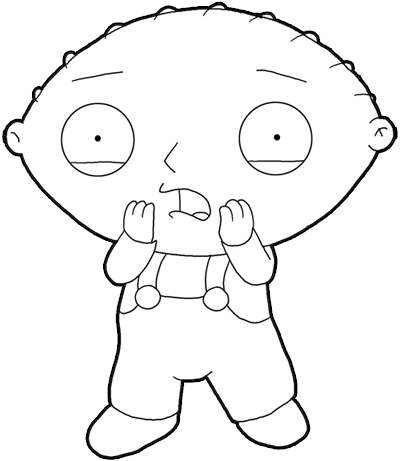 Family  Coloring on How To Draw Stewie From Family Guy   Step By Step Drawing Lesson