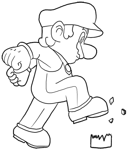 How to Draw Mario  Step by Step Drawing Lesson  How to Draw Step