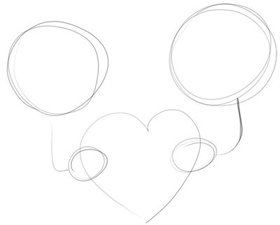Drawing Boy And Girl Holding Love Heart For Valentine S Day How To