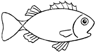 Drawing A Cartoon Fish With Easy Sketching Instructions How To