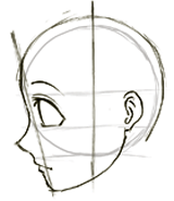 How To Draw Anime Manga Faces Heads In Profile Side View How