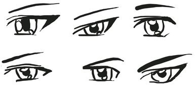 Step 7 Above You Can See Many Styles Of Male Anime Manga Eyes