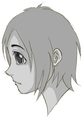 How To Draw Anime Manga Faces Heads In Profile Side View Page