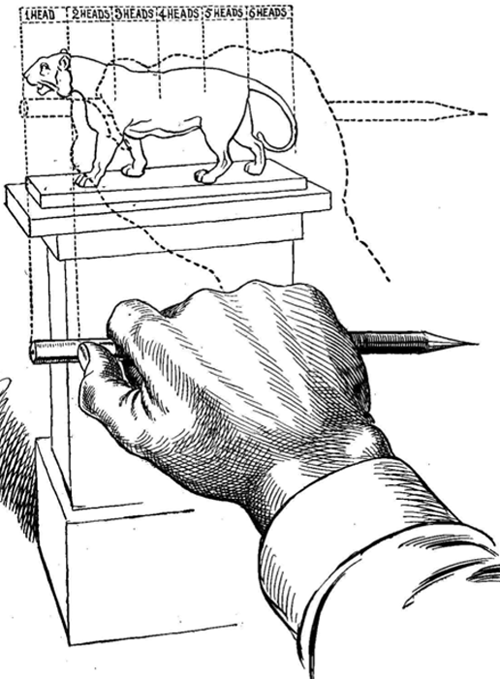 Line Drawing Method : How to find measurements proportions and angles draw
