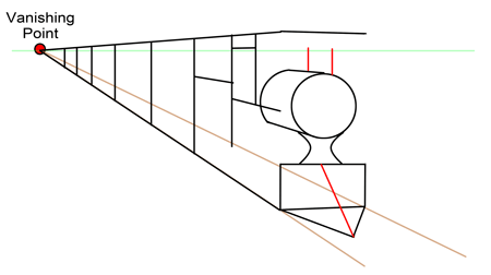 how to draw 1 point perspective step by step