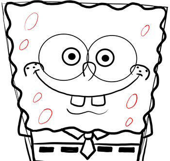 how to draw spongebob& 39