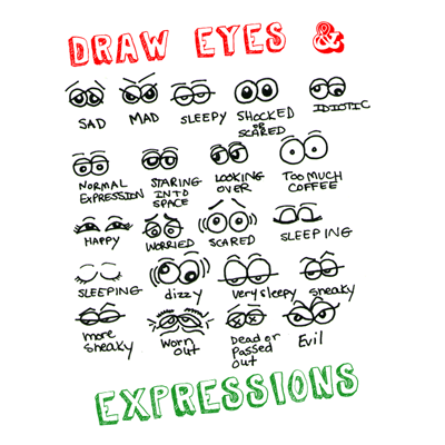 Drawing Cartoon Facial Expressions How To Draw Eyes