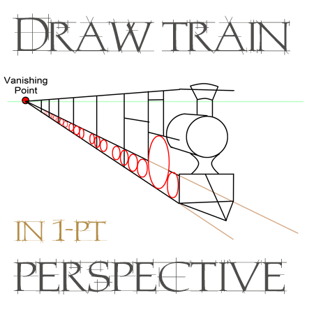 Drawing Trains in One Point Perspective with Easy Step by ... Easy One Point Perspective Drawing For Kids