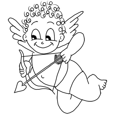 How To Draw Cupid With Step By Step Drawing Tutorial For Valentines Day