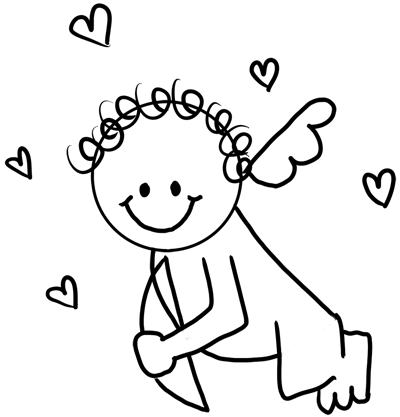 drawing cupid with easy step by step instructions for preschoolers and school aged kids - Drawing For Preschoolers