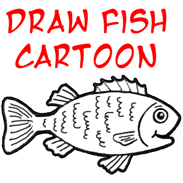 cartoon fish. How to Draw a Cartoon Fish