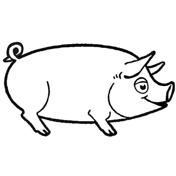 how to draw cartoon pigs with easy step by step instructions