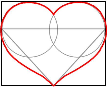 how to draw a world heart