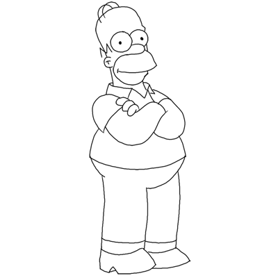 Dress  on Step Homer Simpson Square How To Draw Homer Simpson From The Simpsons