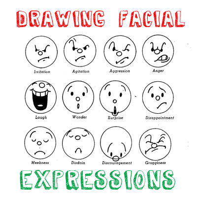 How to draw cartoon emotions facial expressions drawing lessons