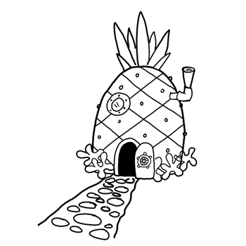 How To Draw Spongebob Squarepantsu0027 Pineapple House With Drawing Directions