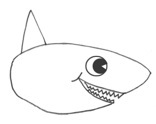 How To Draw Sharks With Cartoon Shark Drawing Lesson How To Draw