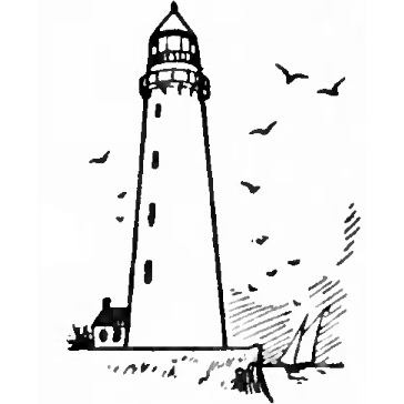how to draw lighthouses with simple drawing step by step instructions