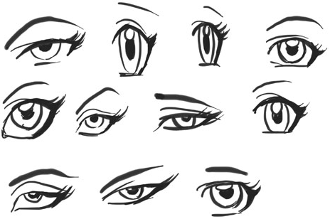 Draw Anime Eyes (Females): How to Draw Manga Girl Eyes Drawing Tutorials