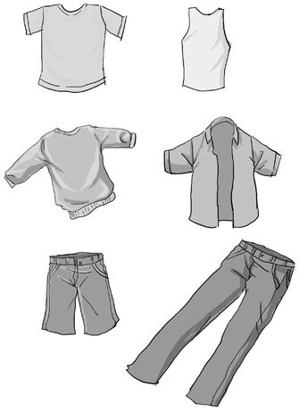 How to draw manga anime clothing with drawing lesson