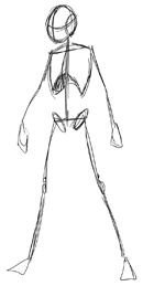 how to draw full body male