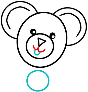 how to draw a teddy bear easy