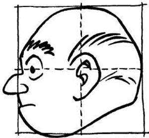 Drawing Comic Human Faces Heads With The Boxed Grids Method How To Draw Step By Step Drawing