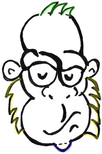 Gorilla Face Line Drawing : How to draw cartoon gorillas apes with easy step by