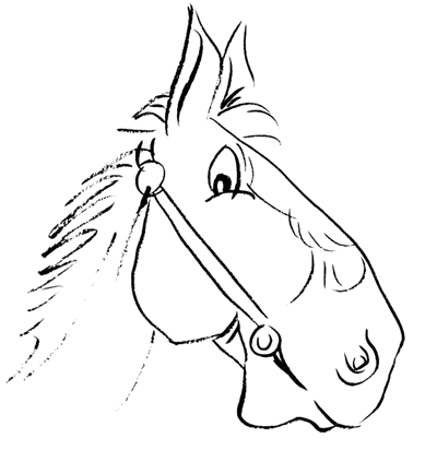 How To Draw Cartoon Horse Head Face With Easy Step By Step Drawing