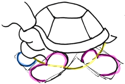 How To Draw Cartoon Turtles With Easy To Follow Drawing Lesson How